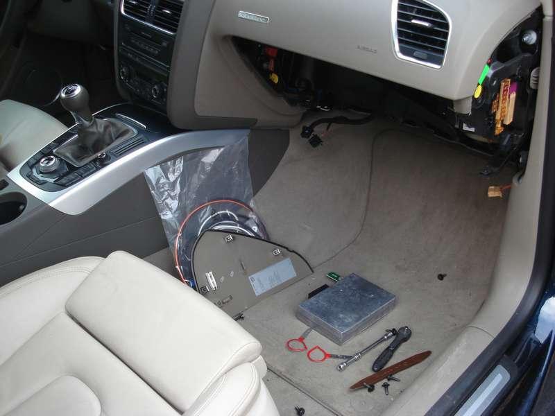 Boitier BlueTooth sur Audi A5